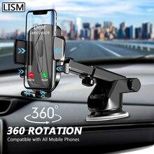 LISM-Soporte de teléfono móvil con ventosa para coche, No magnético, con GPS, para iPhone 12, 11 Pro, Xiaomi y HUAWEI