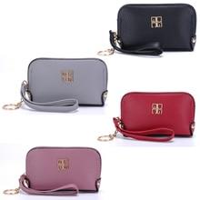 Women Mini Clutch Bag 2020 New Fashion Ladies Zip Short Wallet PU Simple Zipper Small Coin Purse Female Solid Color Hand Bags
