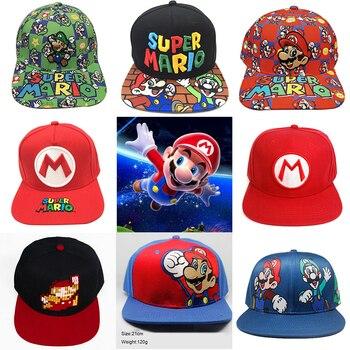 Game Super Mario Bros Baseball Trucker Hat Cotton Luigi Mario Cap Adjustable Hip Hop Hat Embroidery Cap Cosplay Gift For Friend 1