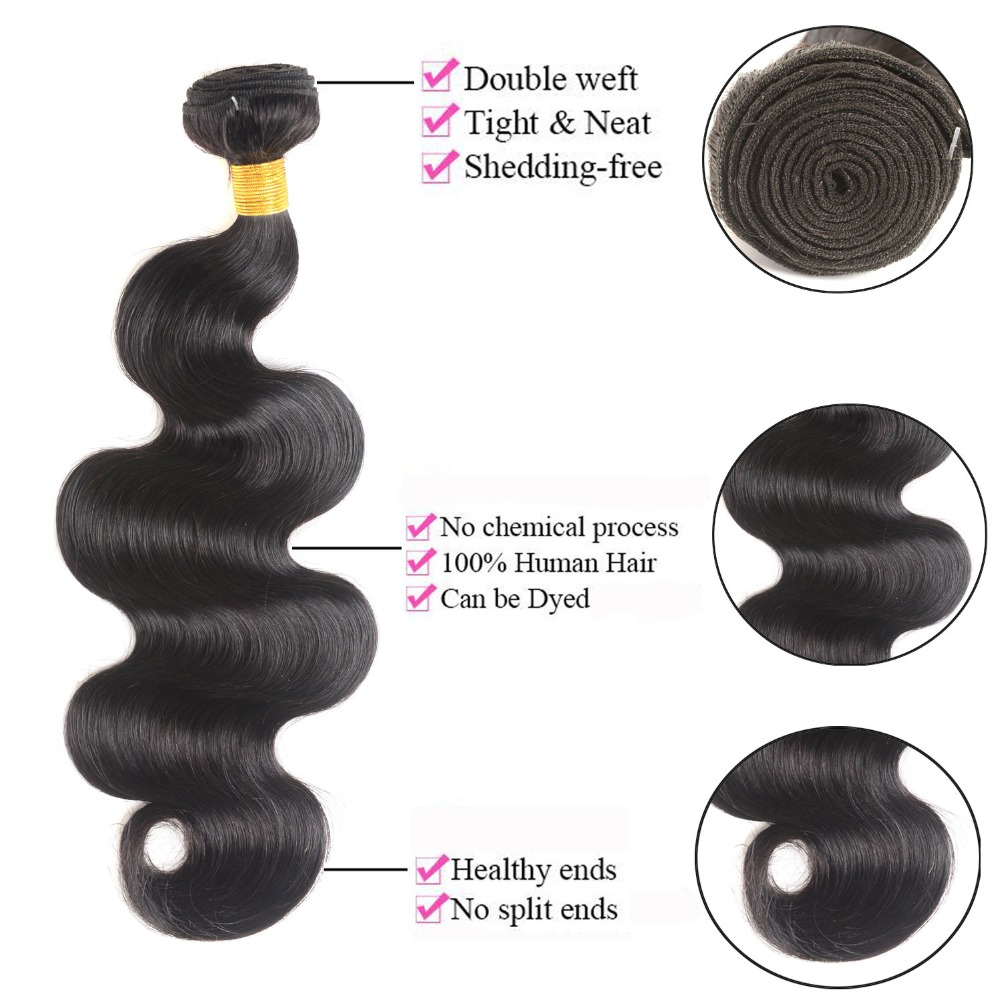 He7adc171438548009e7485b0f6dcec51y MSH Hair Brazilian Body Wave Human Hair Weave Bundles With 4*4 Lace Closure 130% Density Non Remy