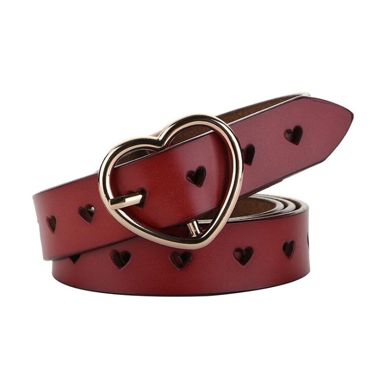 Image 5 - JXQBSYDK Luxury Belts for Women Fashion Personalized Heart Buckle High Quality Genuine Leather Waist Belts 2019Womens Belts   -