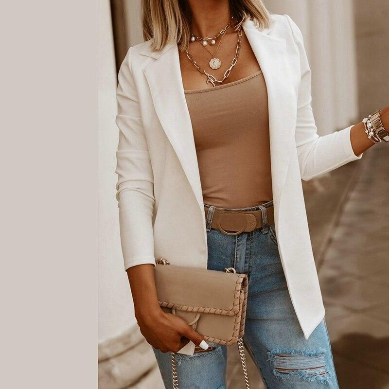 2020 Fashion Autumn Women Blazers and Jackets Work Office Lady Suit Slim Cardigon Business Female Blazer Coat Talever
