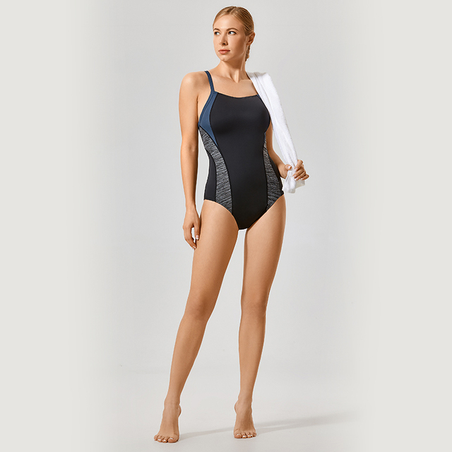 Athletic One Piece Hollow Back Bathing Suit Plus Size