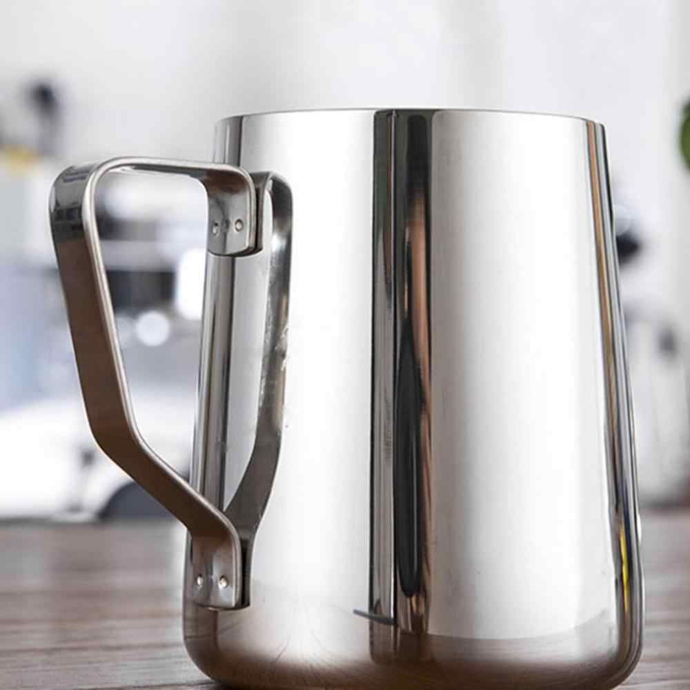 600ML Silver+Silver Silver Lelestar Milk Frothing Pitcher Stainless Steel Jug Perfect Milk Frother Pitcher Steaming Pitcher Turkish Coffee Pot for Kitchen Cafe Use