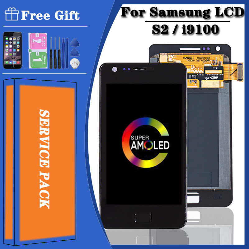 Schwarz Full LCD display+Touch screen Fur Samsung Galaxy S2 i9100