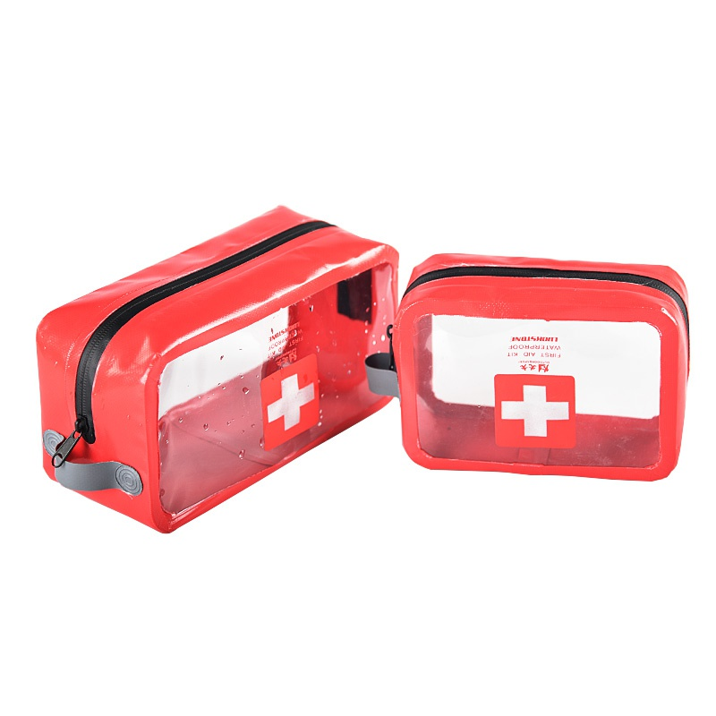 PVC Transparent Empty First Aid Kit Emergency Medical Box Portable Travel Outdoor Camping Survival Medical Bag