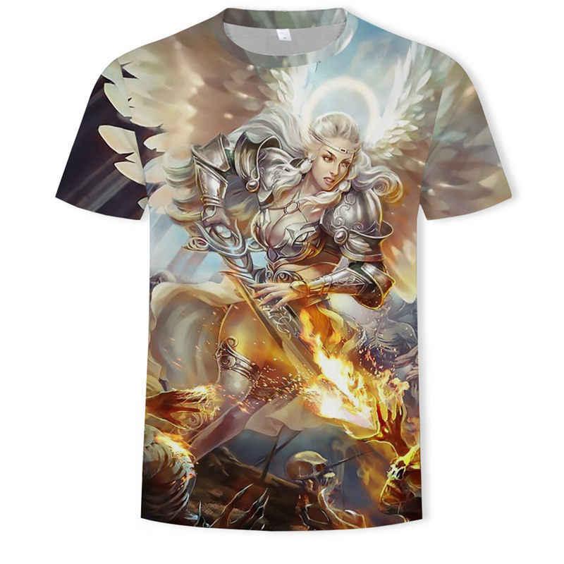 여자 드롭 배송 2018 여름 새로운 패션 3d t-셔츠 섹시 한 아름다움 만화 인쇄 남자 여자 t-셔츠 캐주얼 멋진 t-셔츠