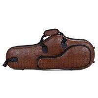 Sax Handheld Bag Case Organiser Bag for Alto Saxophone Accessories Brown Crocodile Pattern
