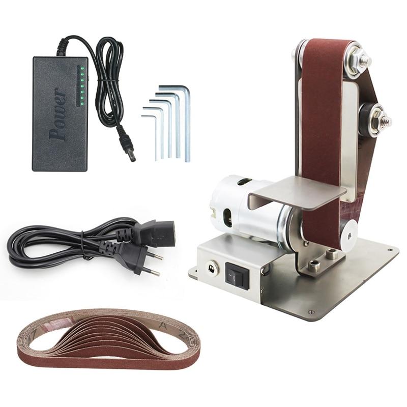 GTBL Diy Electric Mini Belt Sander Fixed-Angle Sharpener Table Cutting Edge Machine Angle Grinder To Belt Sander Wood Metal Work
