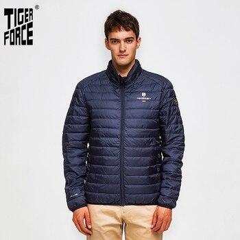 TIGER FORCE Men Jackets Hidden Hood Outerwear Fashion Padded Cotton Coat Ultralight Casual Puffy Coats Man Parka mont erkek - discount item  60% OFF Parkas