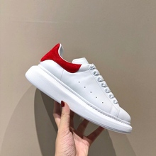 Sneakers White-Shoes Big-Sizes High-Version Genuine-Leather Men