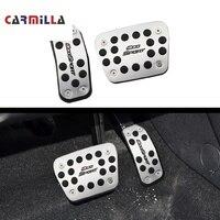 Carmilla araba pedalları Fit Ford Ecosport 2012-2020 için parçaları paslanmaz çelik AT araba pedalı koruma kapağı aksesuarları