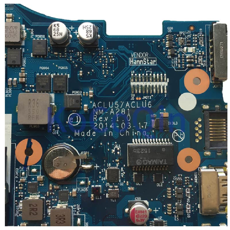 KoCoQin carte mère d'ordinateur portable pour lenovo Ideapad G40 45 14 pouces carte mère amd A8 6410 ACLU5/ACLU6 NM A281 - 5