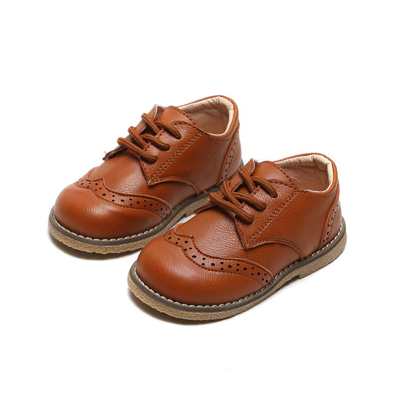 skoex-children's-brogue-leather-shoes-lace-up-boys-girls-formal-oxford-casual-shoes-non-slip-soft-kids-baby-uniform-dress-shoes