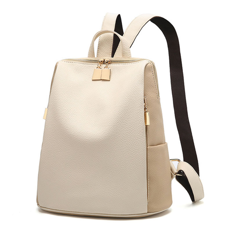 Fashion Women Backpack New Simple Designer Wild Large Capacity Leather Backpacks School Bag For Teenage Girls Women Travel Bags