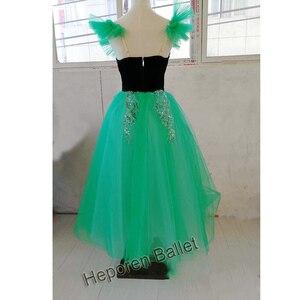 Image 2 - Szmaragdowa dziecięca lub dorosła profesjonalna sukienka na występy baletowe, czarodziejka z Oz zielona długa spódnica baletowa wykonana na zamówienie