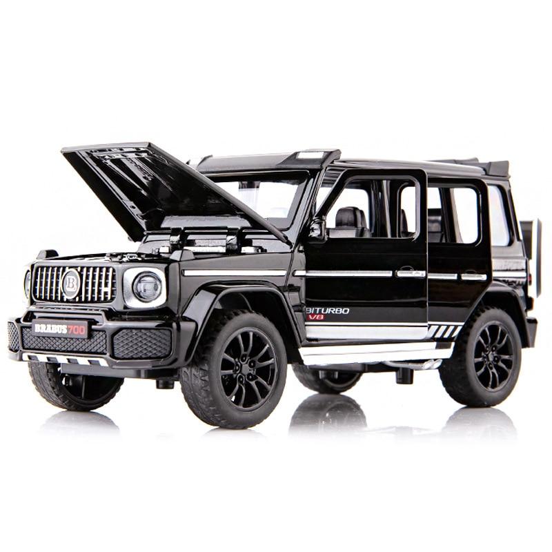 Modèle de voiture SUV moulé sous pression G700, véhicule modifié avec retrait, musique, véhicule tout-terrain, 6 portes, Collection de jouets pour enfants, 1/32