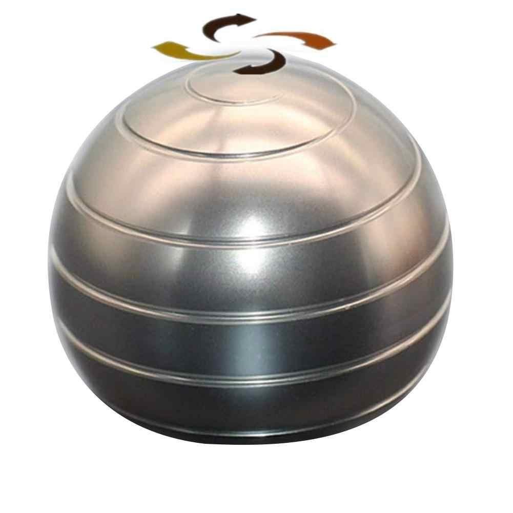 Desktop Decompression Rotating Spherical Gyroscope Kinetic Desk Toy for Adult