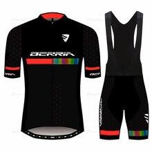 BERRIA team Goodbik abbigliamento da ciclismo estivo maglia da mountain bike da uomo a maniche corte traspirante e ad asciugatura rapida