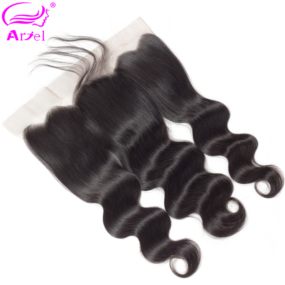 Ariel Closure Frontal Body-Wave Swiss Malaysia Non-Remy Ear-To-Ear 134