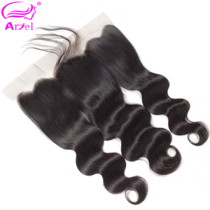 Ariel Body Wave Frontal Ear To Ear Lace Frontal Closure Malaysian Remy Transparent Lace Frontal Swiss Lace Frontal 13×4 Frontals(China)