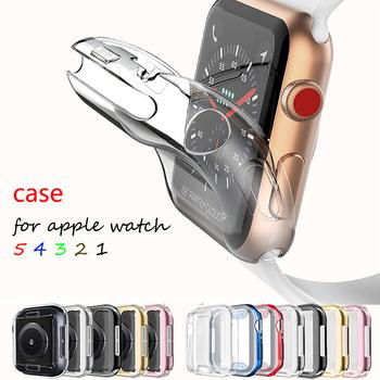 Pokrowiec na Apple Watch series 5 4 3 2 1 pasek dookoła ultra-cienki zabezpieczenie ekranu iwatch Case 44mm 40mm 42mm 38mm tanie i dobre opinie RMUTANE RUBBER CN (pochodzenie) Zegarek Przypadki for apple watch 5 4 3 2 1 for apple watch band iwatch band