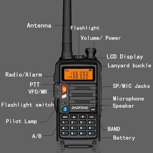 Image 4 - BaoFeng UV 5R Walkie Talkie UV 5R อัพเกรดรุ่น CB วิทยุ Hf Transceiver 8W 10Km UHF VHF walkie Talkies UV 82 UV 9R