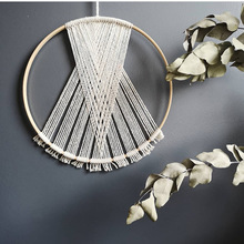 Northern Europe Room Living Circle Wall Hanging Hand Woven headboard Homestay Color Simple Dream Catcher