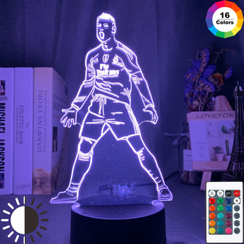 Cristiano Ronaldo Figure Led Night Light for Home Decor Touch Sensor Color Changing Nightlight Gift for Kids Child Table Lamp assassins creed altair figure led night light for kids bedroom home decor color changing baby nightlight for child night lamp 3d