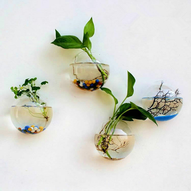 Garden Supplies Home Hanging Glass Ball Vase Flower Planter Pots Terrarium Container Hanging Flower Pot Home Garden Decoration