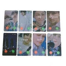 8 шт./компл. KPOP Bangtan мальчики креативная Фотокарта телефон карта душа Persona JIMIN JIN SUGA JUNG KOOK мальчик с фанатами Luv
