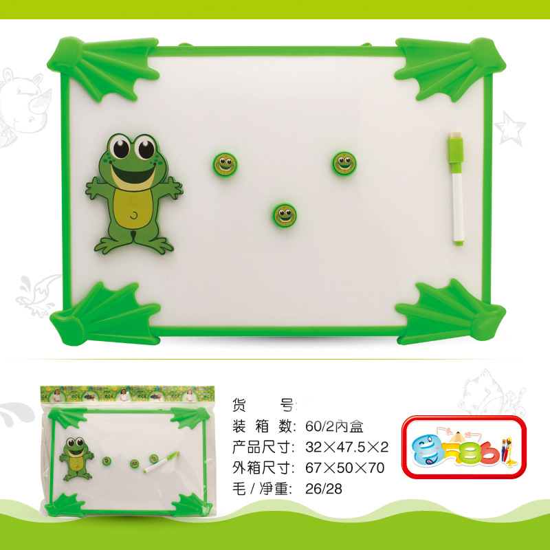 Children Dual-Use Magnetic Drawing Board Writable Wipable Whiteboard Kids Learning Calligraphy Board Plastic Cartoon Magnetic Wh