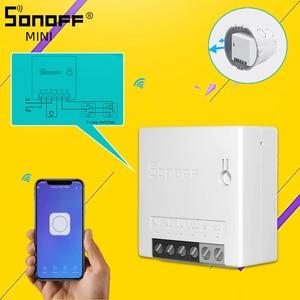 Image 1 - SONOFF basique/MINI commutateur intelligent Wifi bidirectionnel petite application/LAN/voix/télécommande prise en charge bricolage un commutateur externe Google Home Alexa