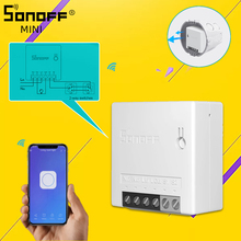 SONOFF minicontrolador inteligente para el hogar enchufe de pared inteligente de dos vías, con Wifi, aplicación pequeña, LAN, por voz y Control remoto, compatible con Alexa y Google Home