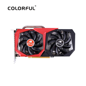 Image 1 - Renkli GeForce GTX 1660 grafik kartı Nvidia GPU NB 6G GDDR5 Video kartı 192 Bit PCI E3.0 HDMI + DVI ekran kartı PC oyun için