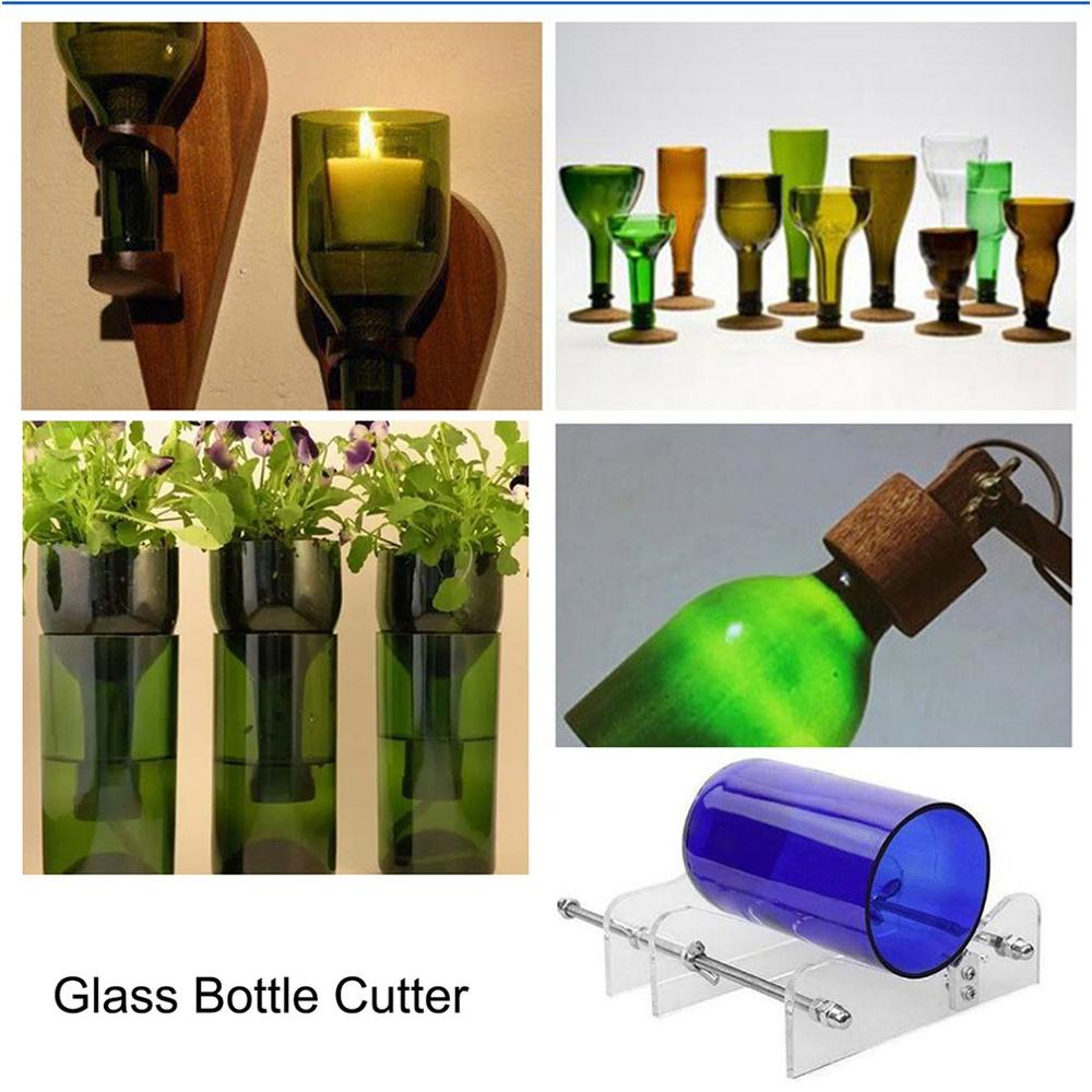 Creative Glass Wine Beer Bottle Recycle Cutter Create Glass Sculptures Cutting Machine Jar Craft Machine Recycle Tool Kits