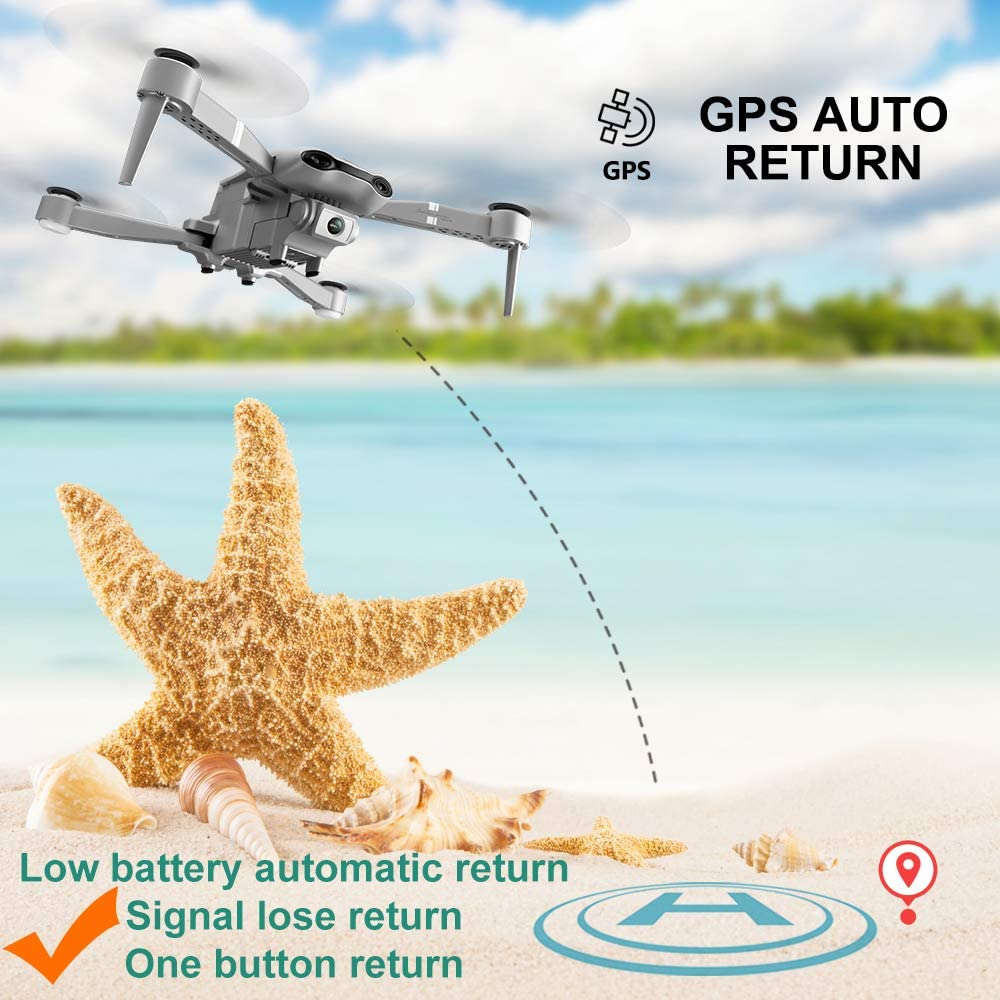 drone GPS 4K 5G WiFi live video FPV  4K/1080P HD Wide Angle Camera Foldable Altitude Hold Durable RC Drone 2
