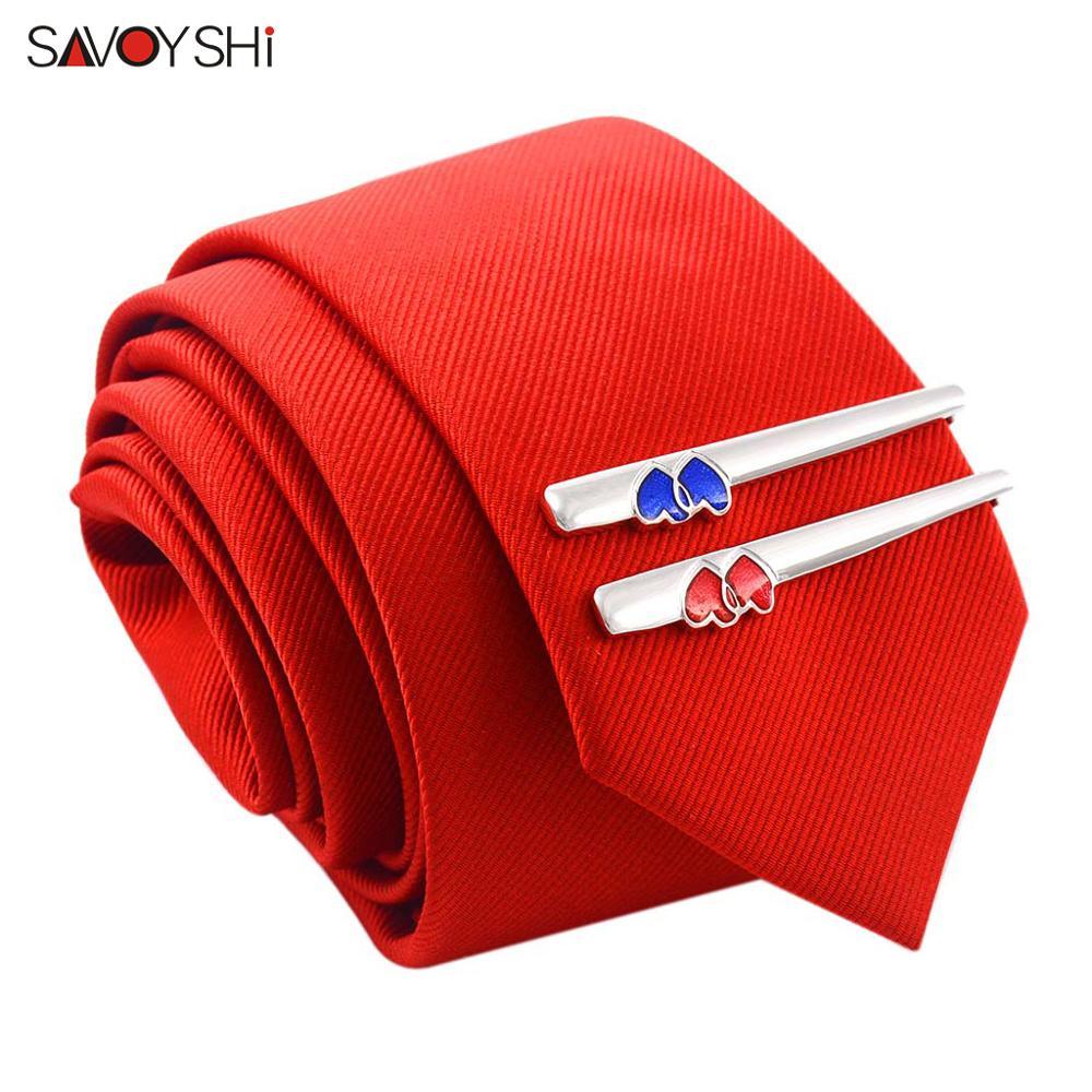 SAVOYSHI stříbrné kravatové klipy pro pánské vysoce kvalitní měkké emailové kravaty kravata sponka sponka značka mužské šperky zdarma carving name