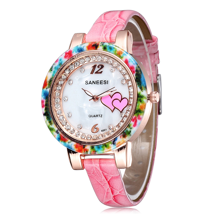 New Arrival Women Watch Rhinestones Quartz  Ladies Fashions Leather Watches Hot Sale