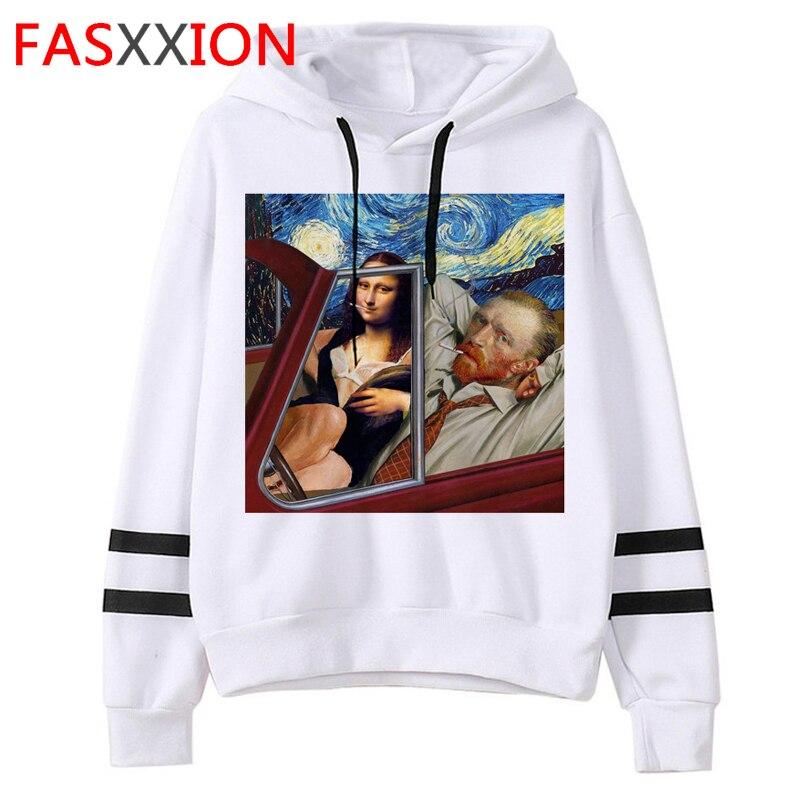 Mona Lisa Aesthetic Harajuku Vintage Funny Cartoon Hoodies Women Ullzang Grunge Graphic Sweatshirts 90s Streetwear Hoody Female