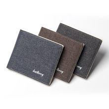 Moda carteira de lona homens sólida jovem fino carteiras bifold bolsa estudante macio luxo clipe dinheiro estilo curto bolsas