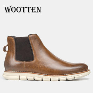 WOOTTEN Men Boots Shoes Retro Brand for Handsome Comfortable Chelsea -By506c3 40-46 Top-Quality