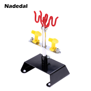 Image 3 - Professional Airbrush Holder Clamp on aerografo Stand Kit 6 Mount Spray Gun Tabletop Bench Station for Airbrush 360Degree