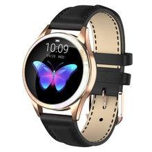 Модные женские наручные Смарт часы 24 часа с пульсометром водонепроницаемые
