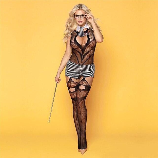 סקסי תלבושות נשים סקסי הלבשה תחתונה בגד גוף פורנו Babydoll המפשעה פתוח חזייה פתוח מפשעת בגד גוף חם ארוטית סקס תחתונים
