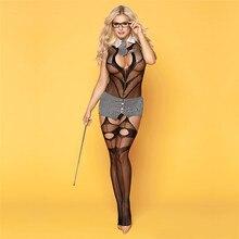 Sexy Kostuums Vrouwen Sexy Lingerie Bodysuit Porno Crotchless Babydoll Open Bh Open Kruis Bodystocking Hot Erotische Sex Ondergoed