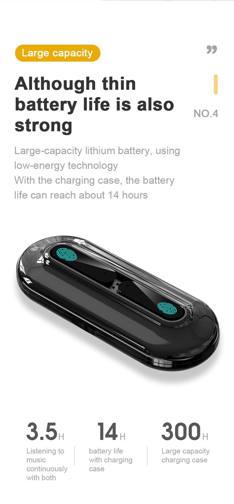 à prova dwaterproof água controle toque fone para iphone 12