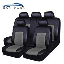 Car-pass Car Seat Cover Universal Leather New Luxury PU Auto Seat Covers Waterproof car interiors Protector