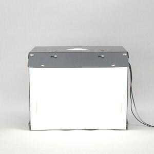 Image 3 - SANOTO Мини Настольный светодиодный светильник с 2 панелями, складной портативный софтбокс для фотостудии, шатер фон для съемки