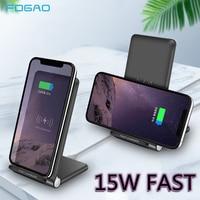 Cargador inalámbrico FDGAO de 15W  soporte de carga rápida para iPhone 11 Pro Max XS XR X 8 Samsung S10 S9 S8 Note 10 9 8
